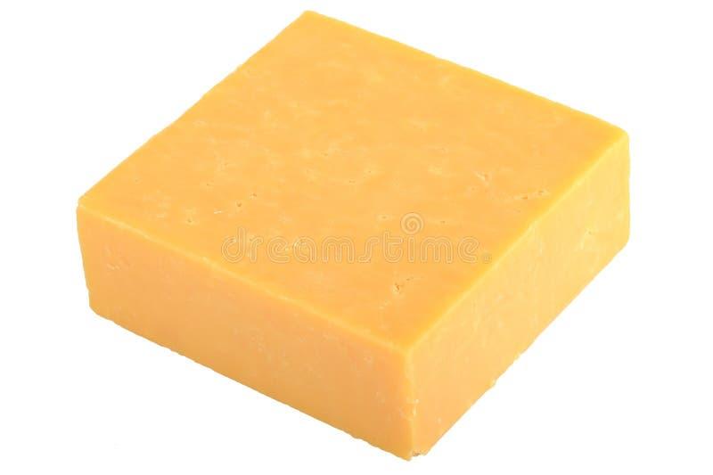 Bloco de queijo cheddar imagens de stock royalty free