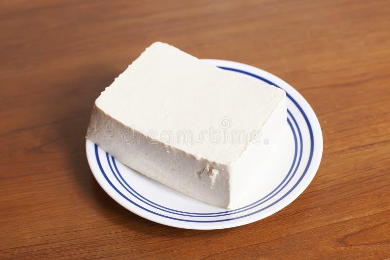 Bloco de Tofu cru fotografia de stock royalty free