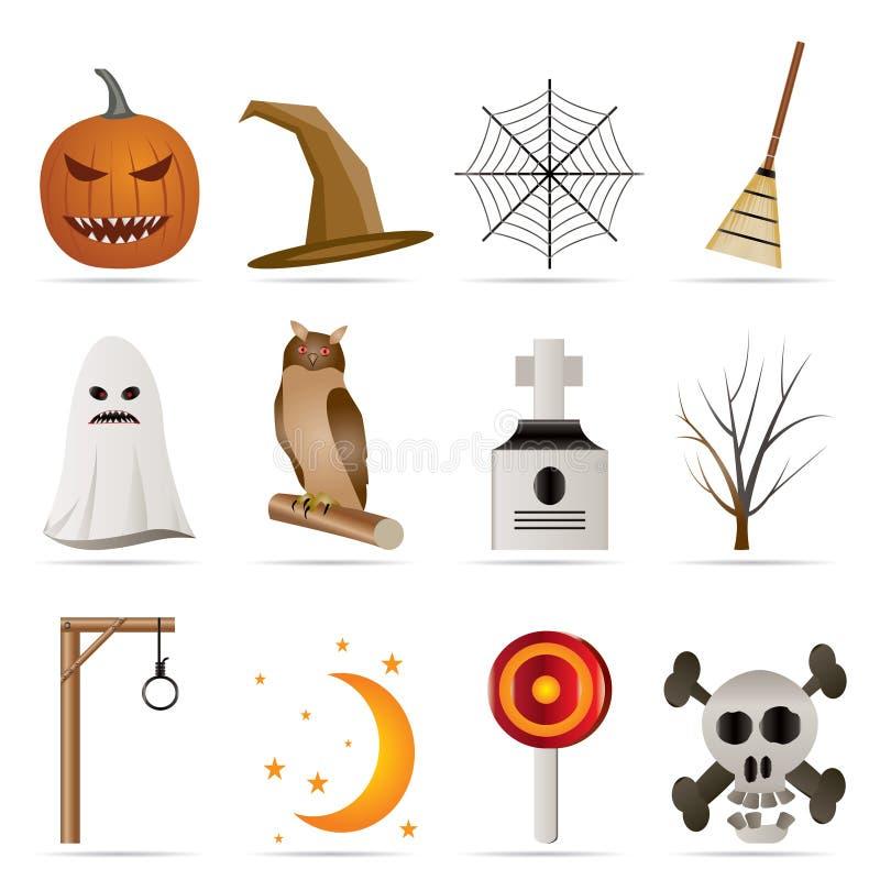 Bloco do ícone de Halloween ilustração royalty free