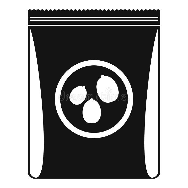 Bloco do ícone nuts, estilo simples ilustração do vetor