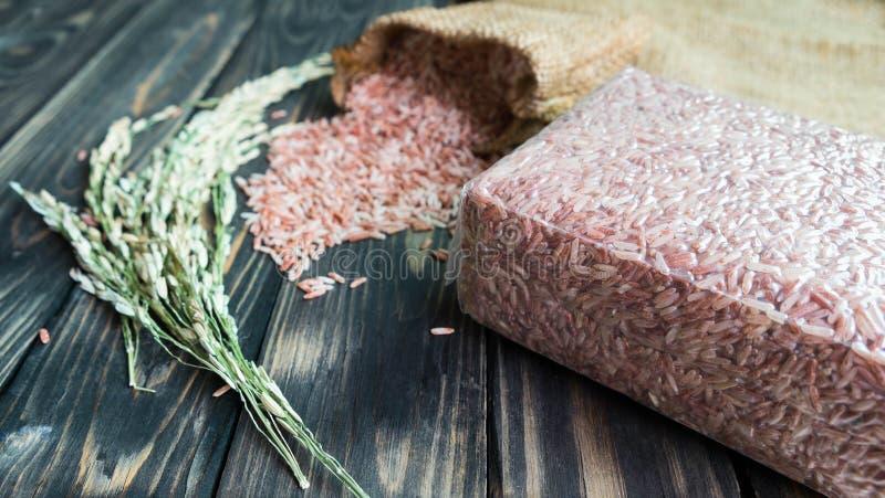 Bloco do arroz integral fotografia de stock