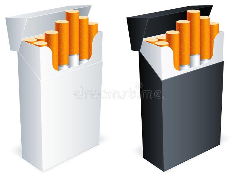Bloco do cigarro. ilustração stock