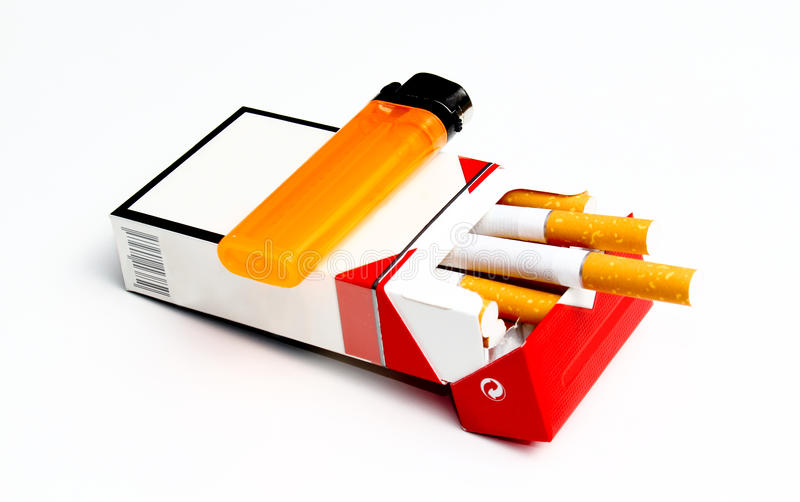 Bloco do cigarro foto de stock royalty free