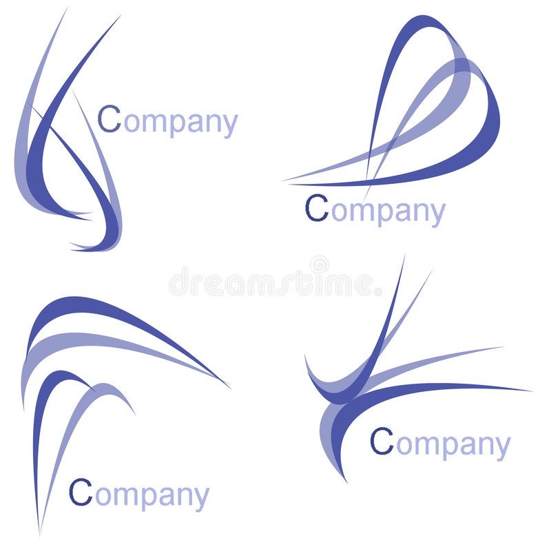bloco do logotipo da companhia imagens de stock royalty free