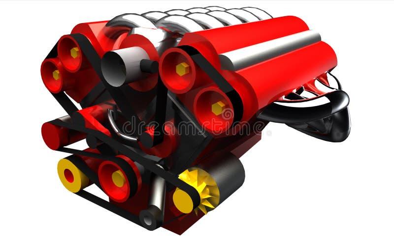 Bloco do motor de automóveis isolado ilustração royalty free