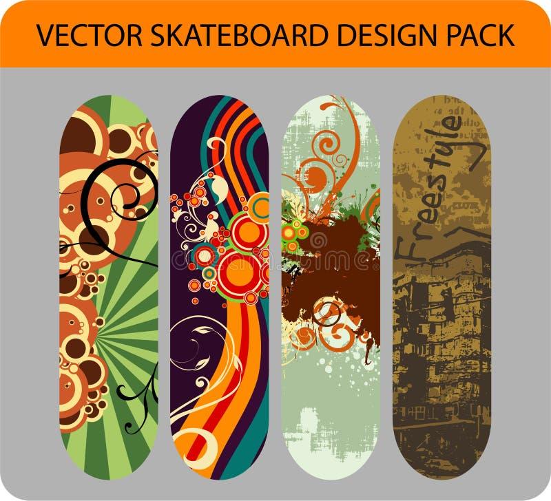 Bloco do projeto do skate ilustração do vetor