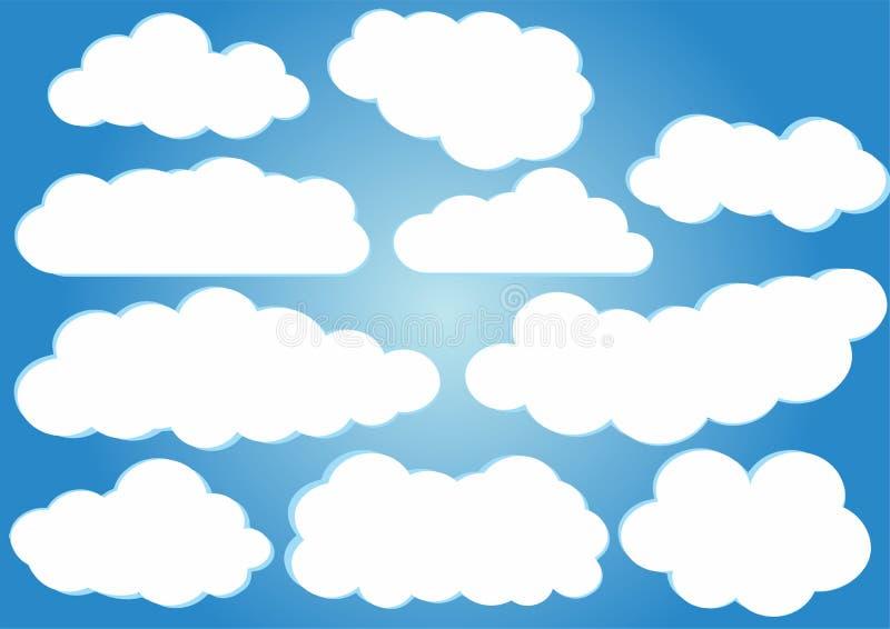Bloco do vetor das nuvens ilustração do vetor