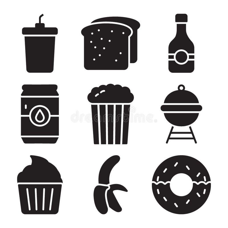 Bloco do vetor dos alimentos ilustração royalty free