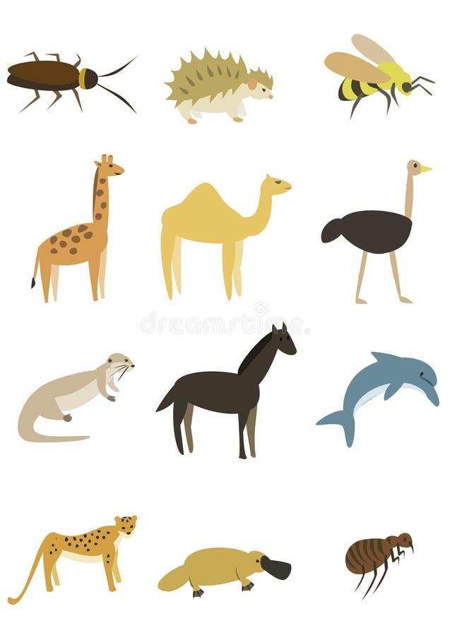 Bloco 6 dos animais fotografia de stock royalty free
