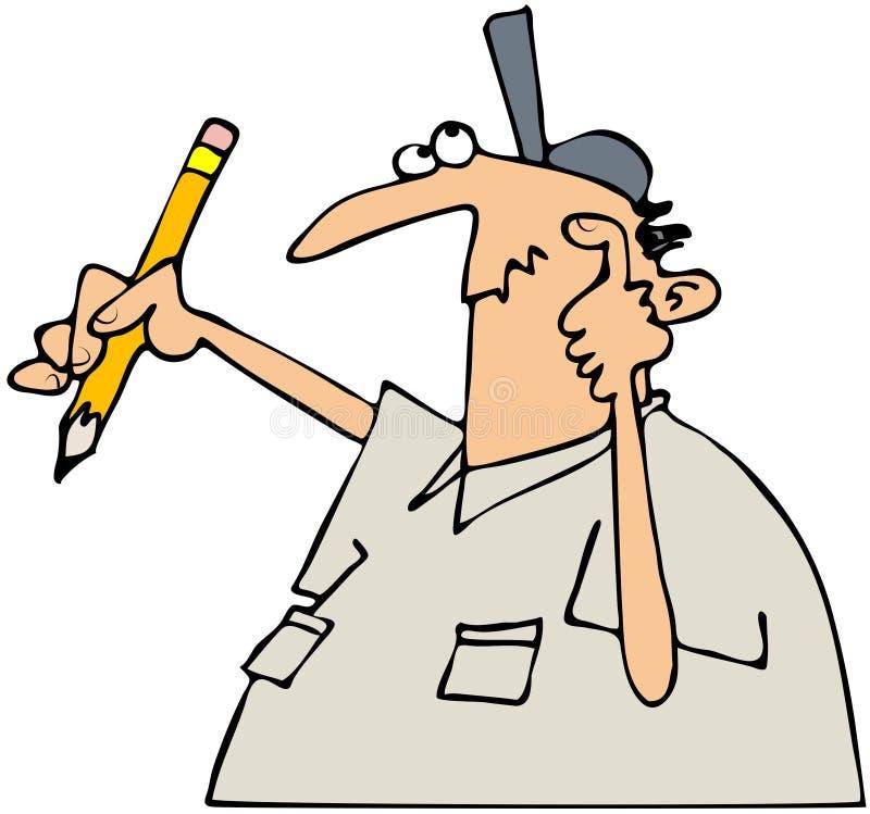 Bloco dos escritores ilustração do vetor