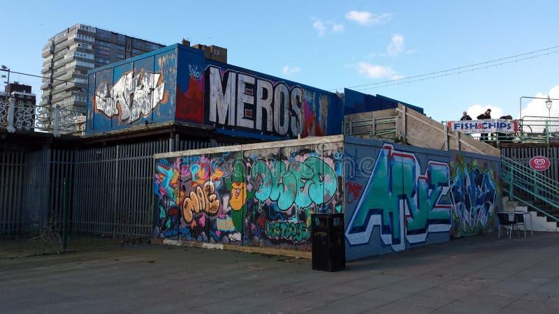 Bloco dos grafittis foto de stock