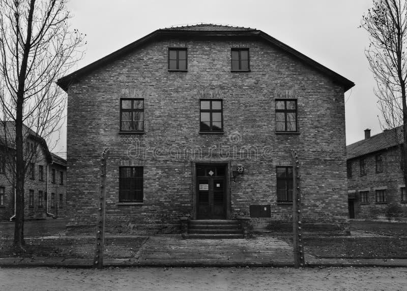 Bloco 23 em Auschwitz fotografia de stock