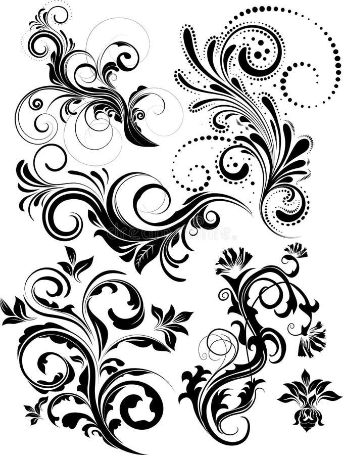 Bloco floral do vetor ilustração stock