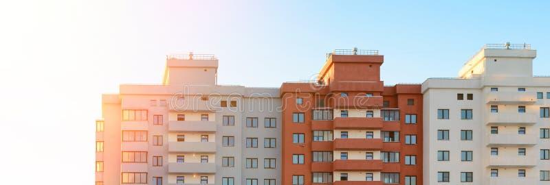 Bloco novo de construção dos planos Bandeira da Web de Real Estate foto de stock royalty free