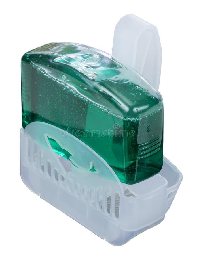 Bloco plástico da borda do toalete fotos de stock