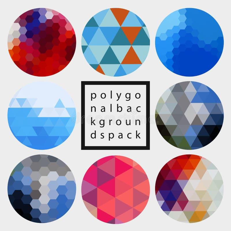 Bloco poligonal dos fundos do projeto do vetor abstrato ilustração stock