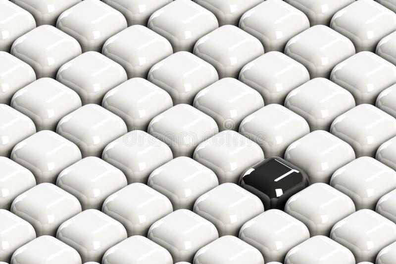 Bloco preto entre os clowds brancos imagens de stock