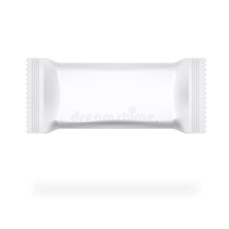 Bloco simples do fluxo com etiqueta no fundo branco ilustração stock