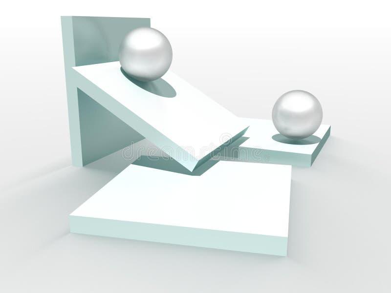 blocos 3D e esferas ilustração royalty free