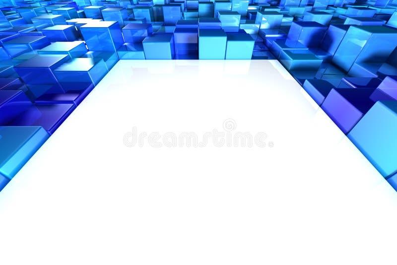 Blocos brilhantes do azul ilustração do vetor