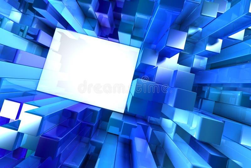 Blocos brilhantes do azul ilustração royalty free