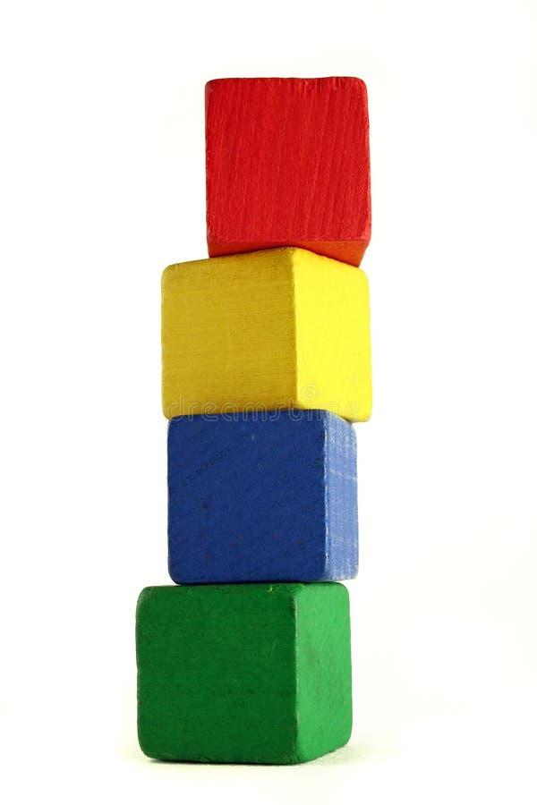 Blocos da criança - altura imagem de stock