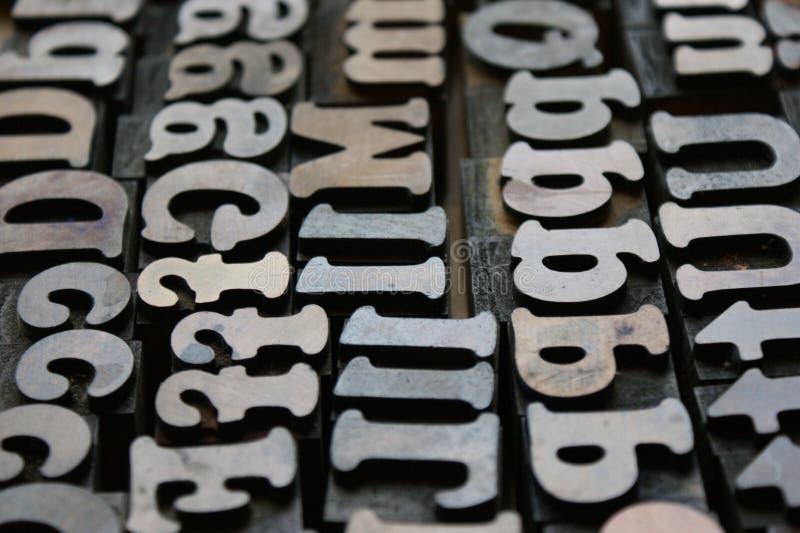 Blocos da tipografia imagem de stock
