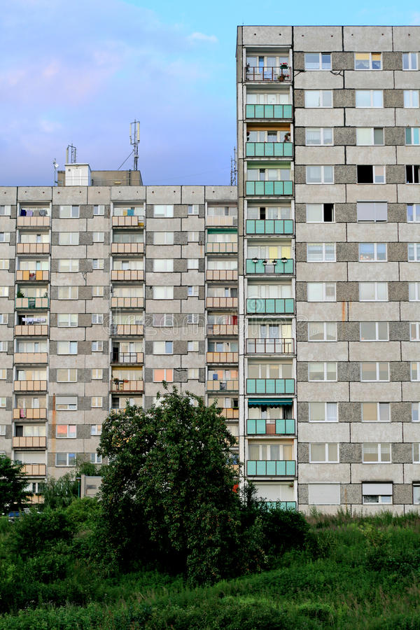 Blocos de apartamentos imagens de stock
