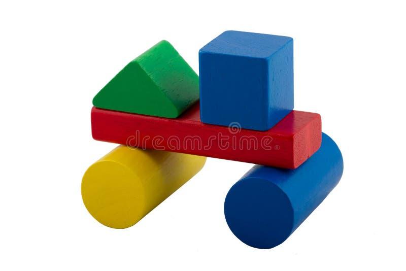 Blocos de apartamentos coloridos - carro foto de stock