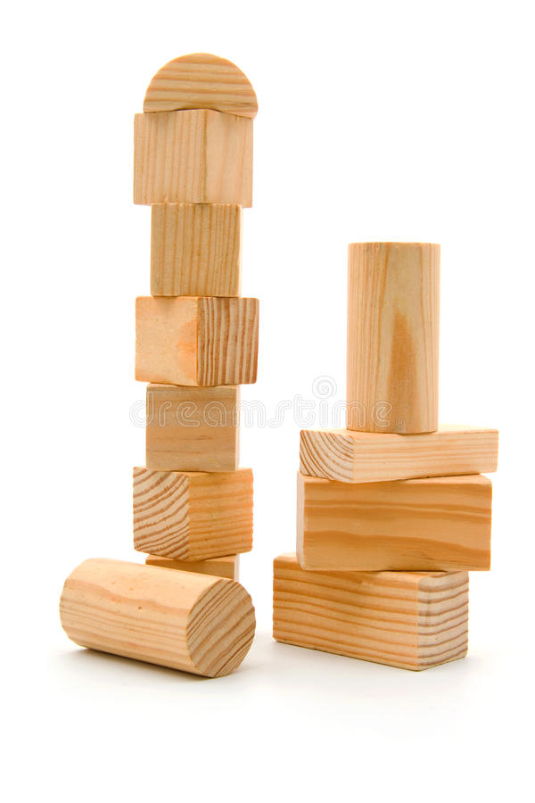 Blocos de apartamentos de madeira fotografia de stock royalty free