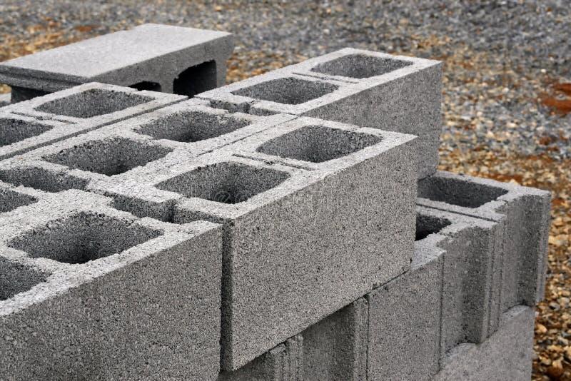 Blocos de cimento fotos de stock