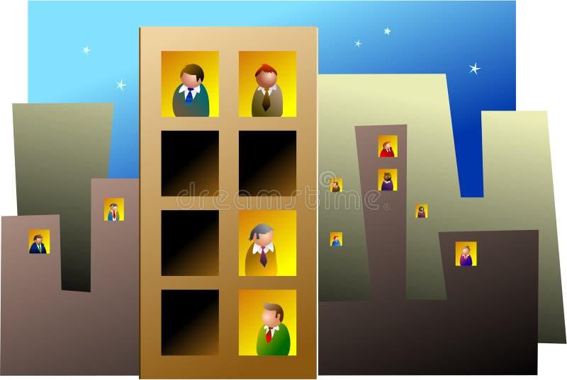 Blocos de escritório ilustração royalty free