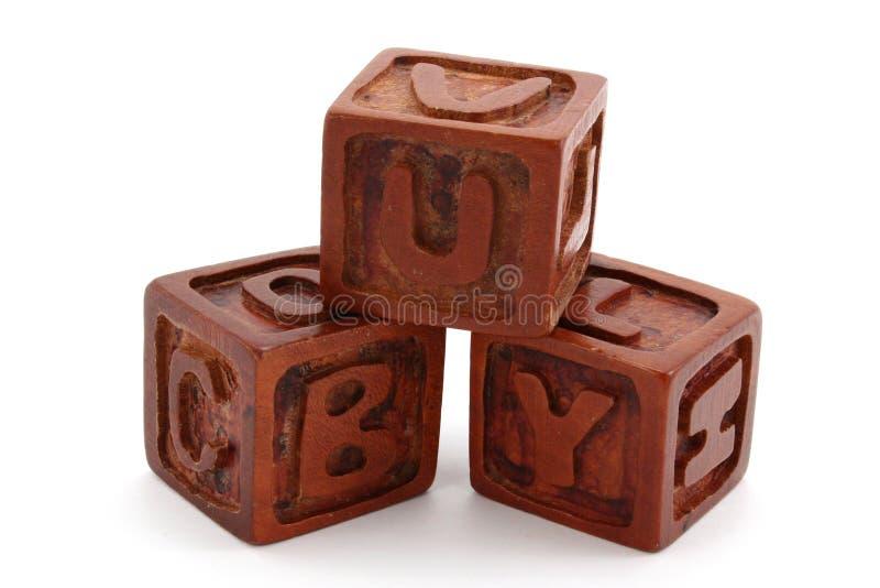Blocos de madeira fotos de stock