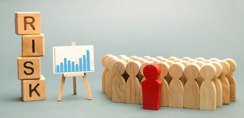 Blocos de madeira com o risco da palavra e uma equipe com um líder Conceito do negócio dos trabalhos de equipa, da solução da cri imagem de stock