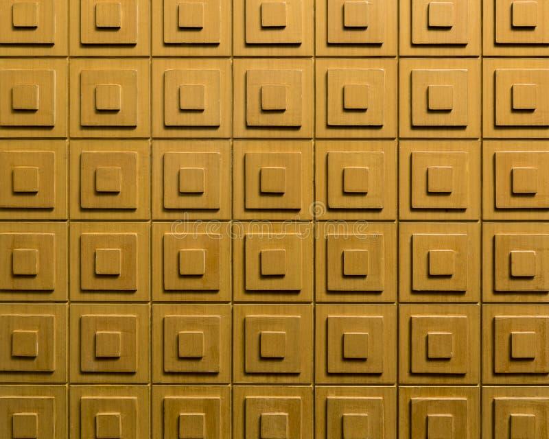 Blocos de madeira da decoração - teste padrão de madeira do paneling - parte traseira sem emenda fotografia de stock royalty free
