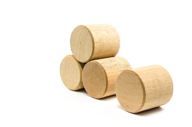Blocos de madeira do brinquedo foto de stock royalty free