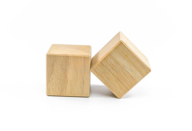 Blocos de madeira do brinquedo isolados imagem de stock royalty free