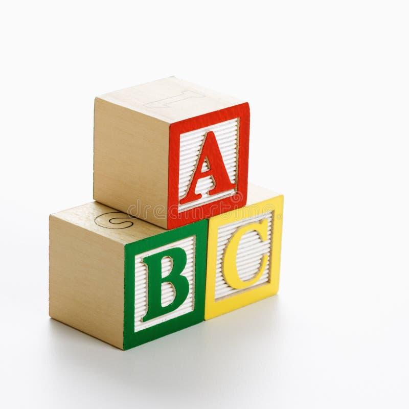Blocos do ABC do brinquedo. fotos de stock royalty free