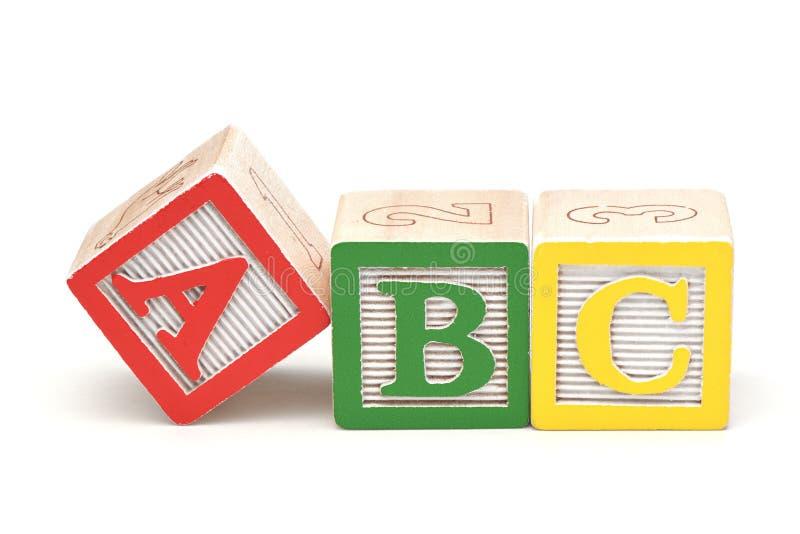 Blocos do alfabeto imagem de stock royalty free
