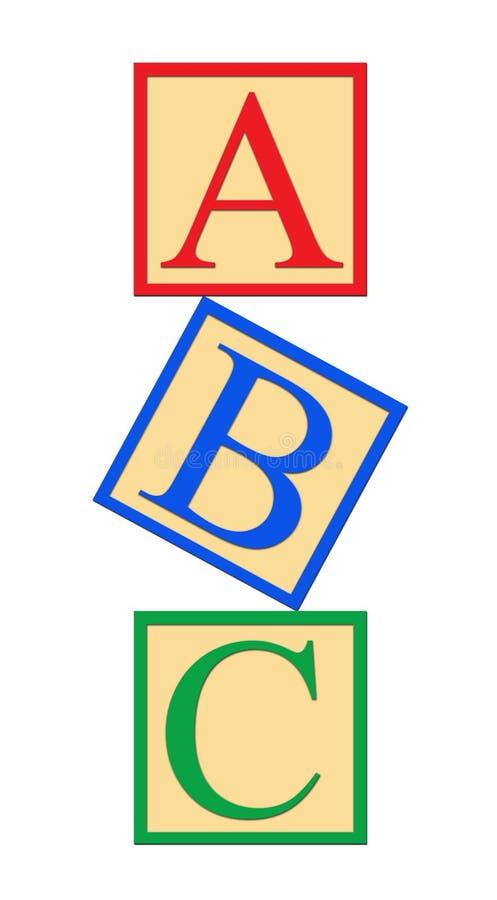 Blocos do alfabeto do ABC fotografia de stock