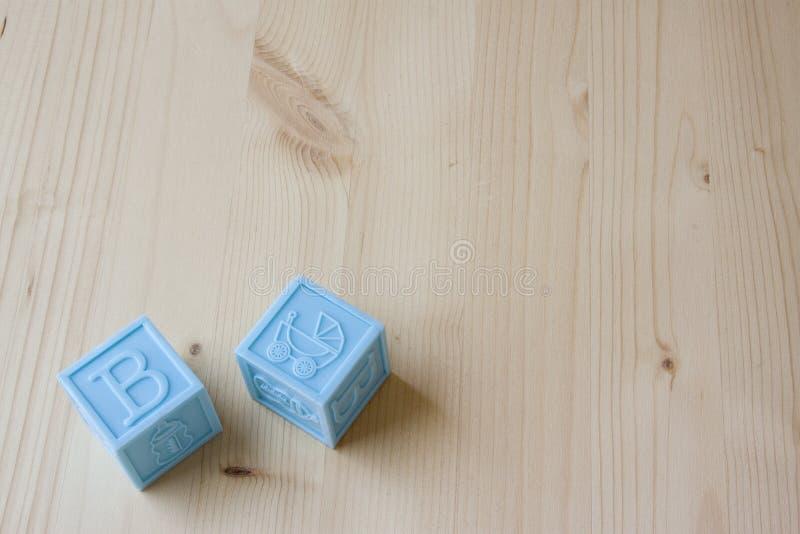 Blocos do bebê azul imagens de stock