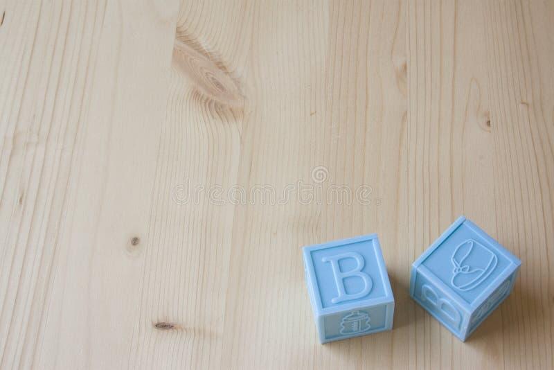 Blocos do bebê azul fotografia de stock