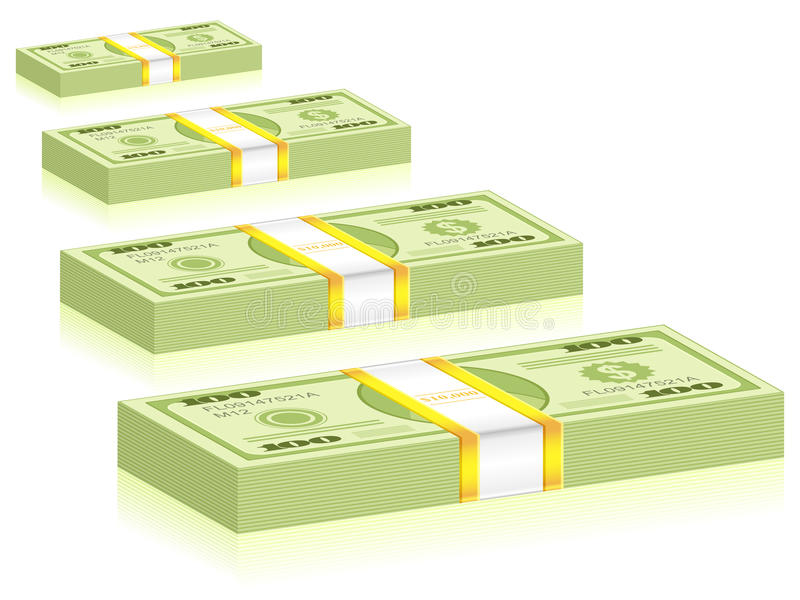 Blocos do dólar ilustração stock