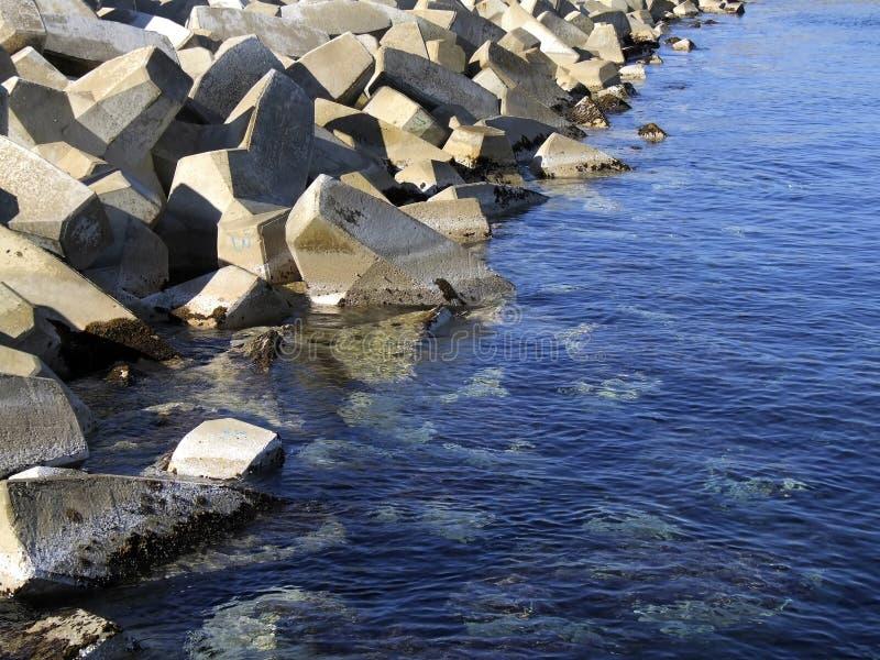Blocos Do Quebra-mar Fotos de Stock