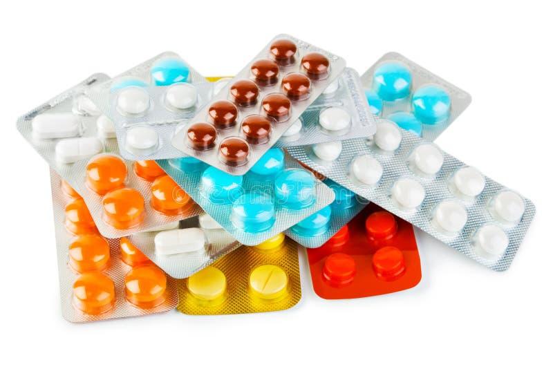 Blocos dos comprimidos imagens de stock royalty free