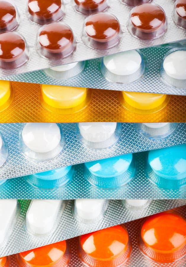 Blocos dos comprimidos imagens de stock
