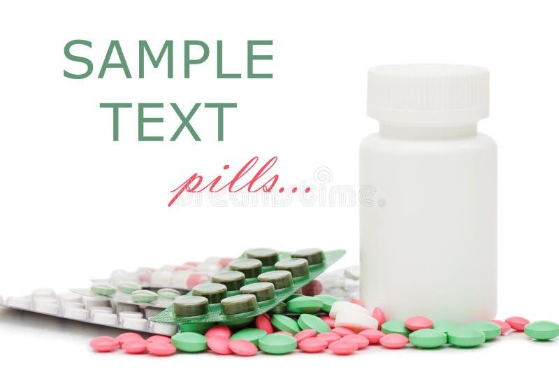 Blocos dos comprimidos - fundo médico abstrato foto de stock royalty free