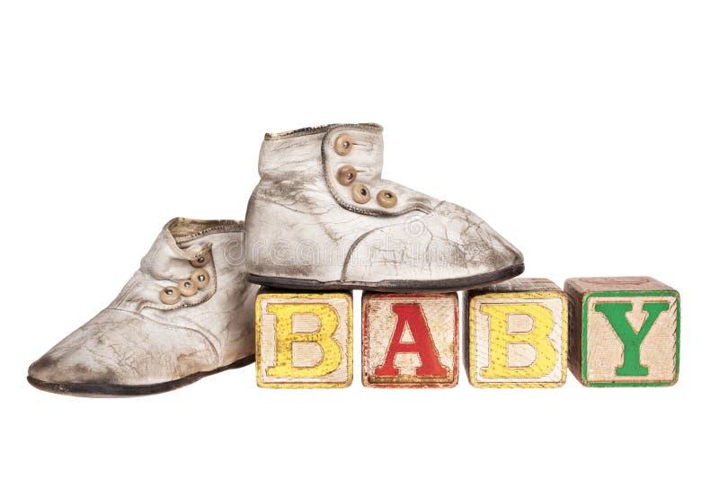 Blocos e montantes do bebê do vintage fotografia de stock