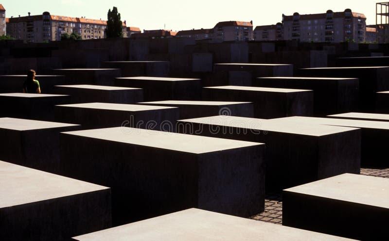 Blocos em Berlin Holocaust Memorial, Alemanha fotos de stock royalty free