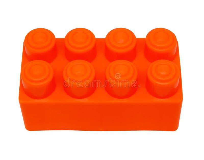 Blocos plásticos do brinquedo da construção isolados no fundo branco com cl fotos de stock